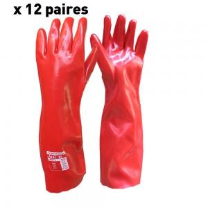 Gant PVC rouge L 45 T10